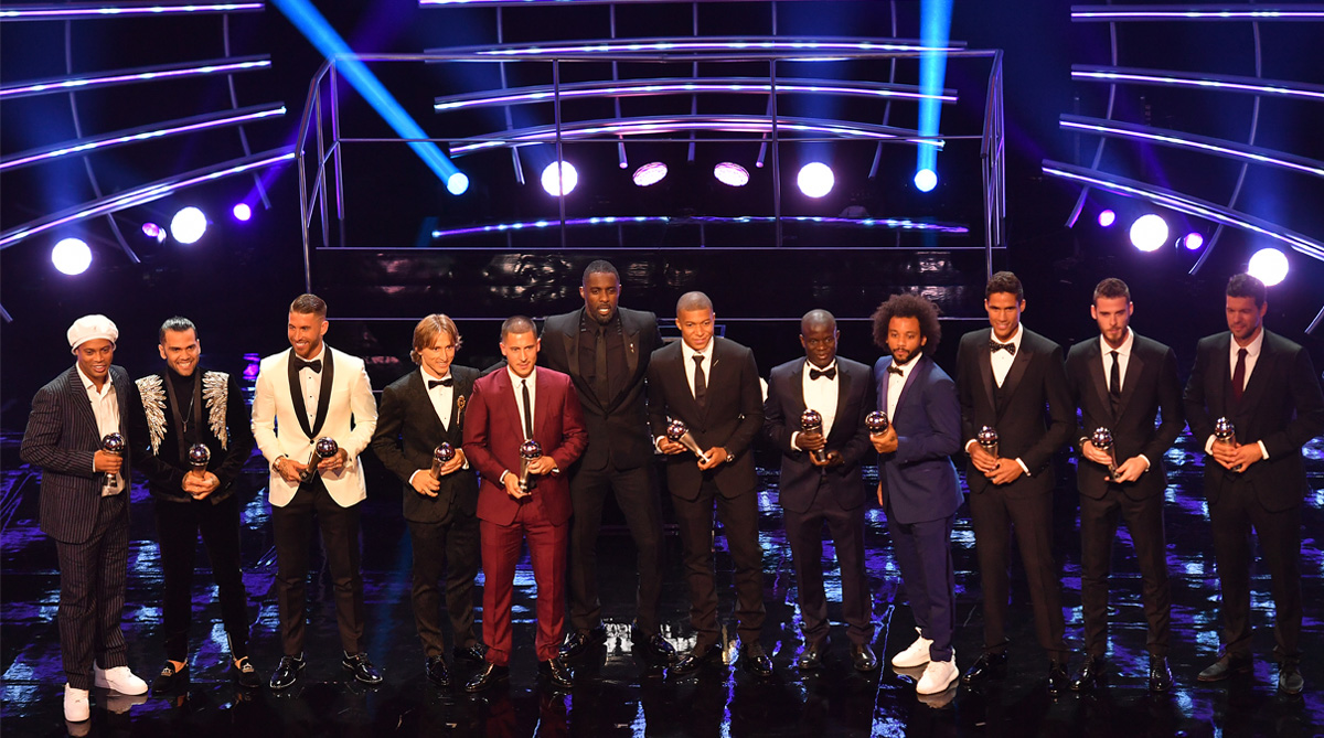 FIFA FIFPro World XI 2018, FIFA Best Awards, Real Madrid C.F., UEFA Champions League, 2018 FIFA World Cup, FIFA World Cup 2018, Lionel Messi, Cristiano Ronaldo, Luka Modric, Manchester United F.C.