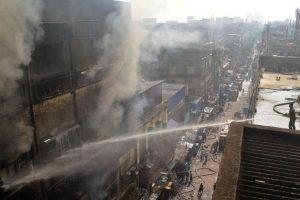 Bagree market: Forensic team collects samples at fire site