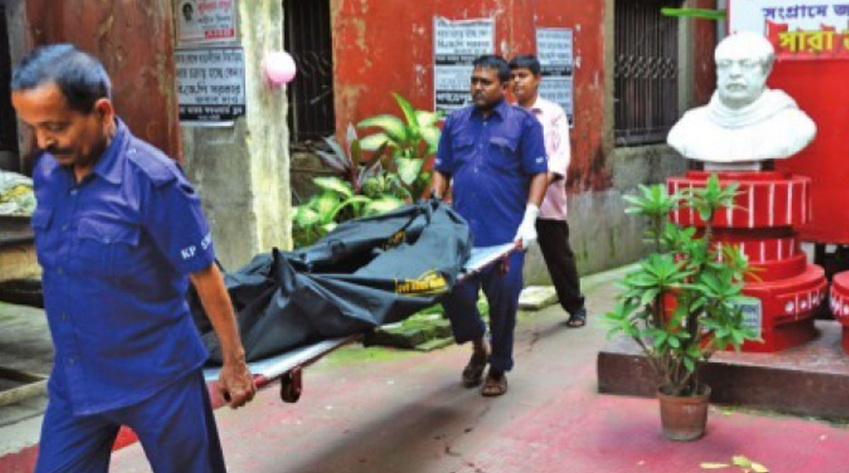 Mutilated body, Chittaranjan Avenue, Forward Bloc, Kolkata Municipal Corporation, Kolkata Police