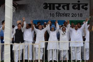 Bharat Bandh: Rahul Gandhi, Manmohan Singh sure of united opposition victory in 2019