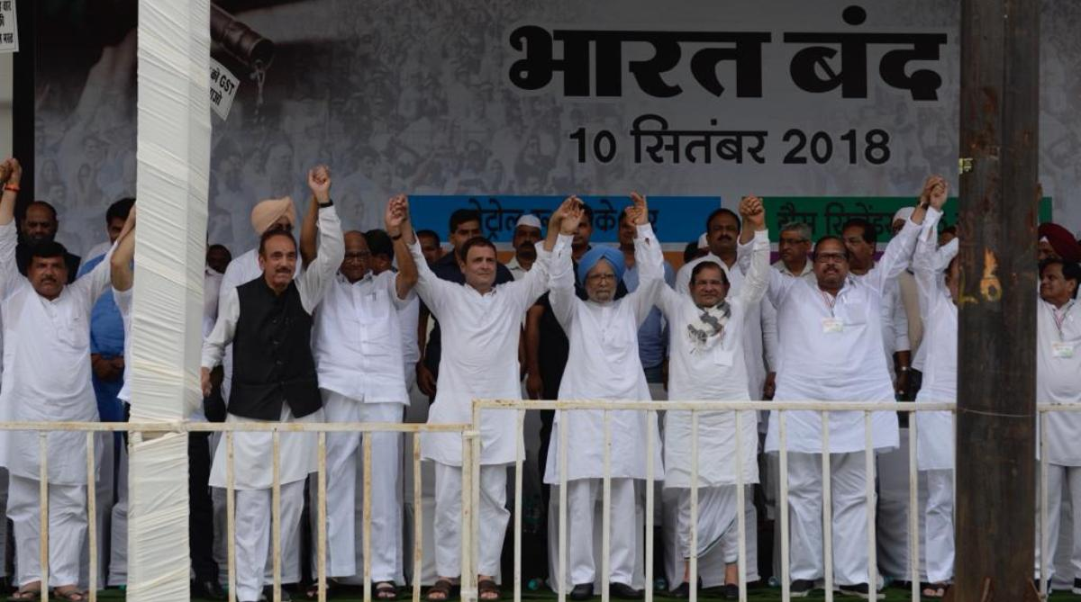 Bharat Bandh, Rahul Gandhi, Manmohan Singh, United opposition, Victory, 2019 Lok Sabha