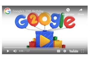 Google celebrates 20th birthday, readies for next chapter of Search