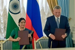 India-Russia should aim for $50 billion investment by 2025: Sushma Swaraj