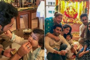 Taimur Ali Khan, with Kapoor clan, takes part in Ganesh Chaturthi celebrations