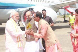 PM Modi arrives in Bhopal to address Karyakarta Mahakumbh