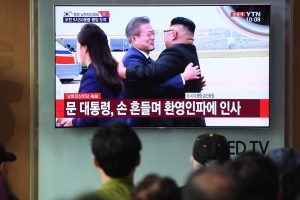 Pyongyang summit: Kim Jong Un greets S Korean leader Moon Jae-in with a hug