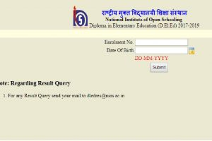 NIOS DElEd Results 2018 declared: Check www.nios.ac.in, dled.nios.ac.in for First Semester Results | Website working properly, direct link available here