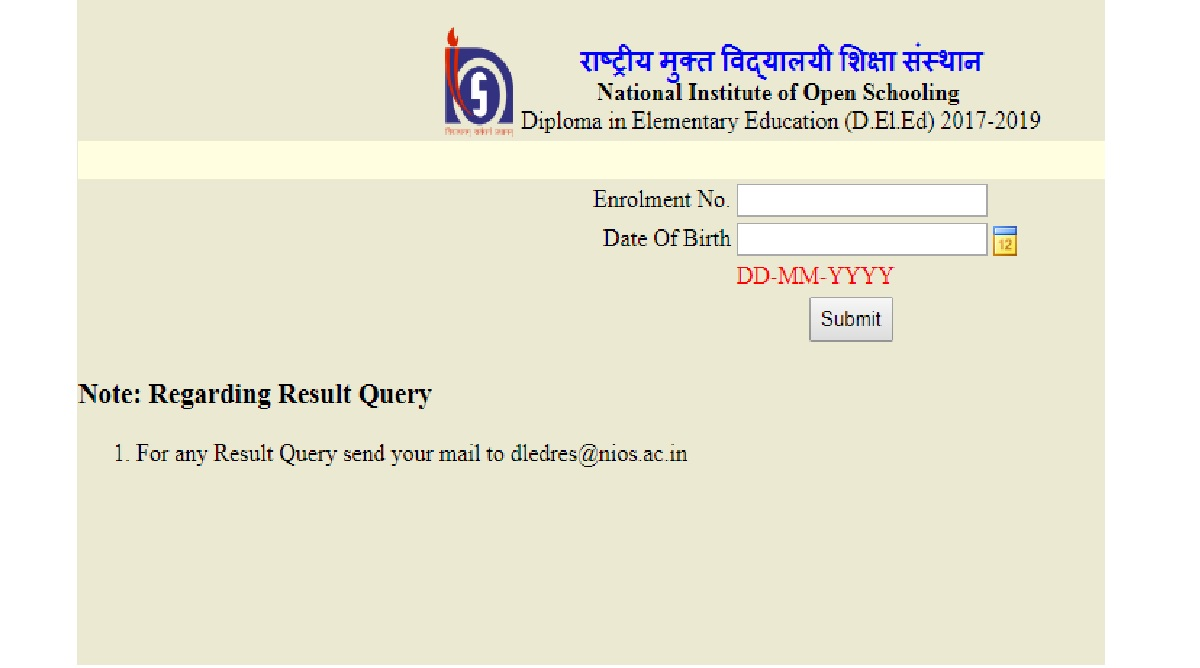 Array - nios deled results 2018 declared  check www nios ac in dled nios ac      rh   thestatesman com