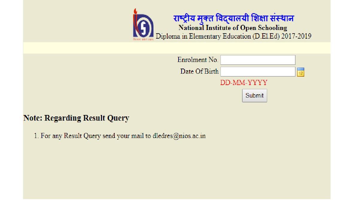 Array - nios deled results 2018 declared  check www nios ac in dled nios ac      rh   thestatesman com