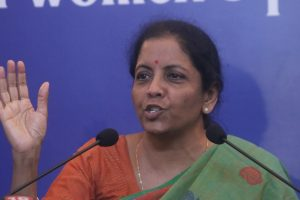 Government working to realise Bapu's vision on sanitation: Sitharaman