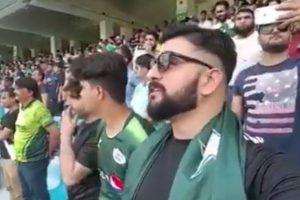 Watch: Pakistani man sings Indian national anthem at Indo-Pak match