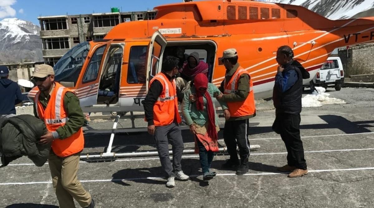 Police Helicopter Kashmir