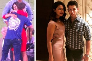 Nick Jonas, Priyanka Chopra share their first public kiss | See video