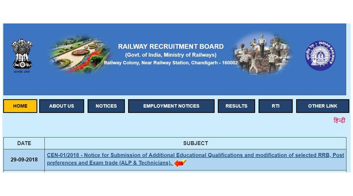 RRB ALP & technician, RRB Group C, ALP & Technician, Railway Recruitment 2018, Railway Recruitment, RRB Admit Card, Group c Alp technician, Railway Recruitment Board