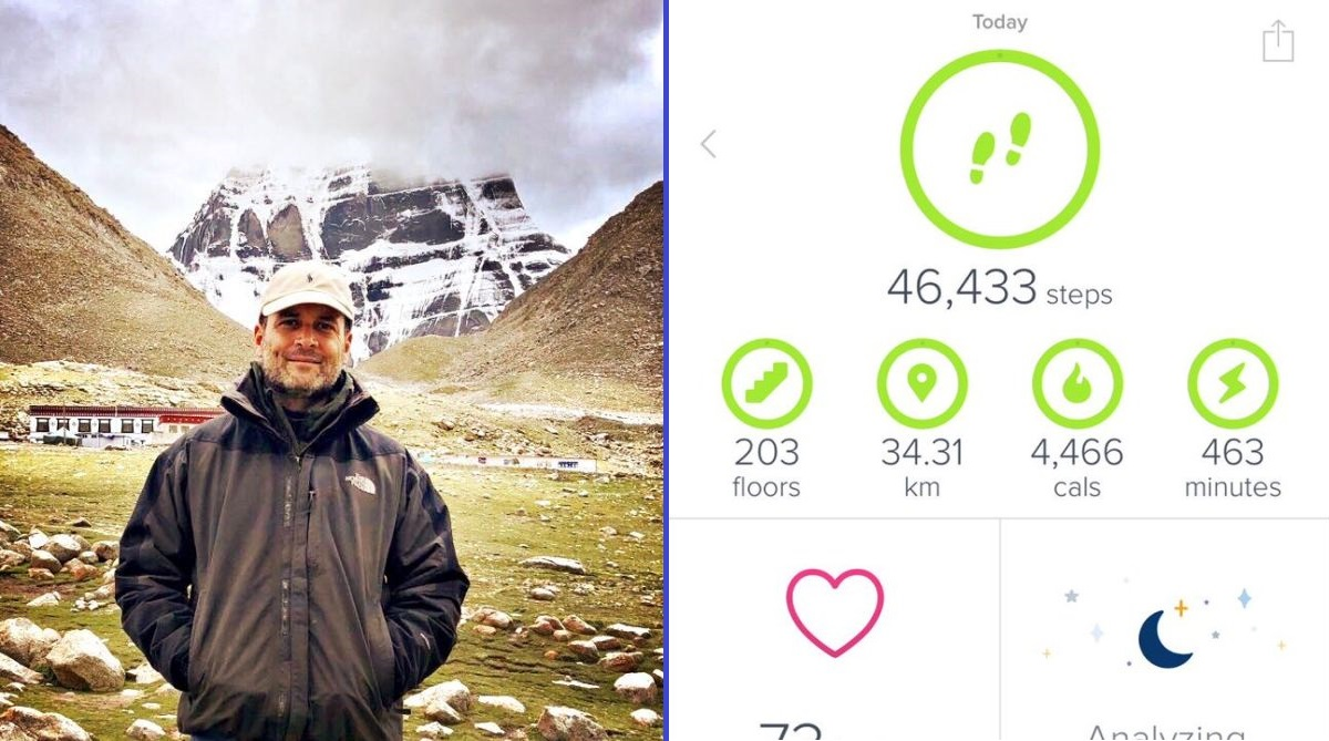 BJP, Authenticity, Rahul Gandhi, Kailash yatra, Picture, Walking record