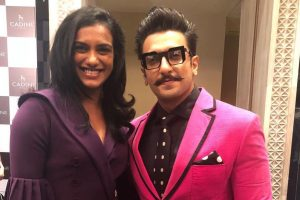 Ranveer Singh's fan moment with PV Sindhu