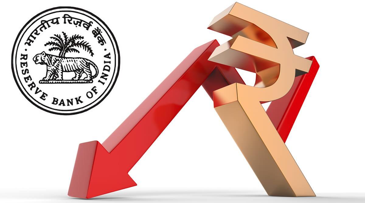Rupee free fall