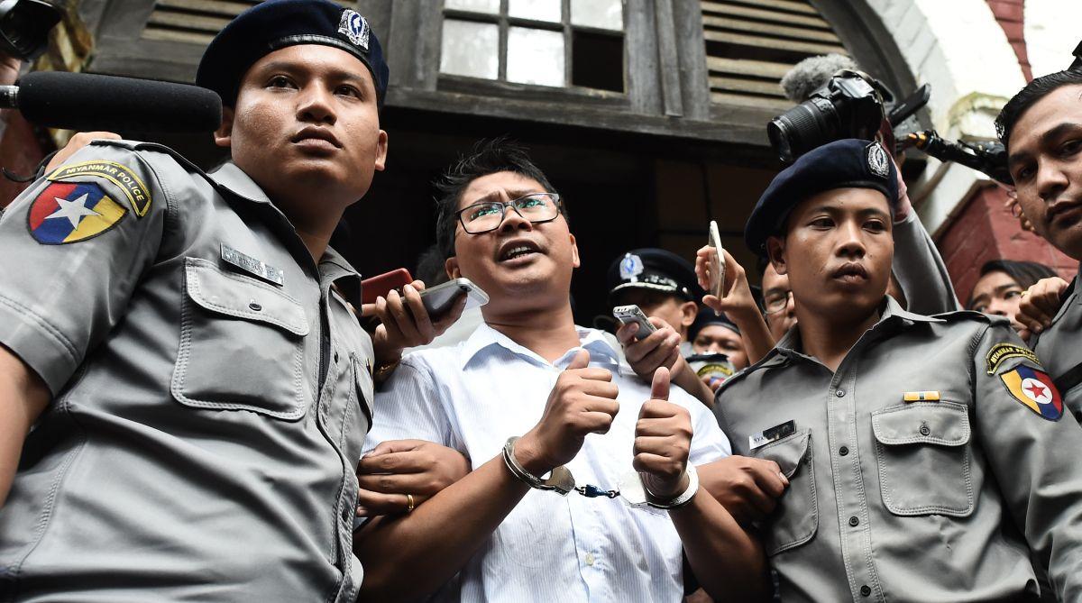 Reuters reporters, Myanmar, Rohingya, Wa Lone, Kyaw Soe Oo, Yangon