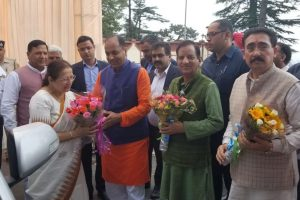 Sumitra Mahajan arrives in Shimla on 3-day visit