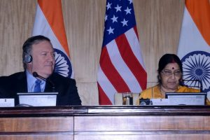 Sushma Swaraj speaks to Mike Pompeo, seeks non-discriminatory H-1B visa regime