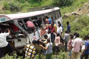 Telangana accident: 50 killed as TSRTC bus falls into gorge