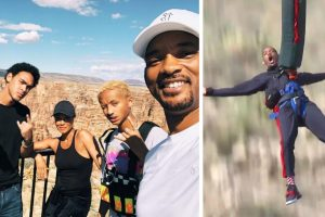 Will Smith bungee jumps into Grand Canyon to celebrate 50th birthday