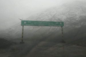 Zojila Pass receives season's first snowfall