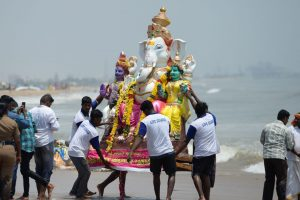 In pics: Devotees immerse Lord Ganesha