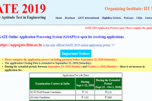 GATE 2019 online registration date extended by one day | Apply now at gate.iitm.ac.in