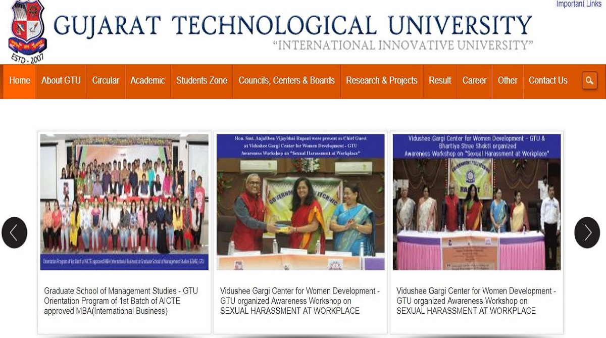 MBA semester IV result, Gujarat Technological University, GTU results 2018, gturesults.in, Government of Gujarat