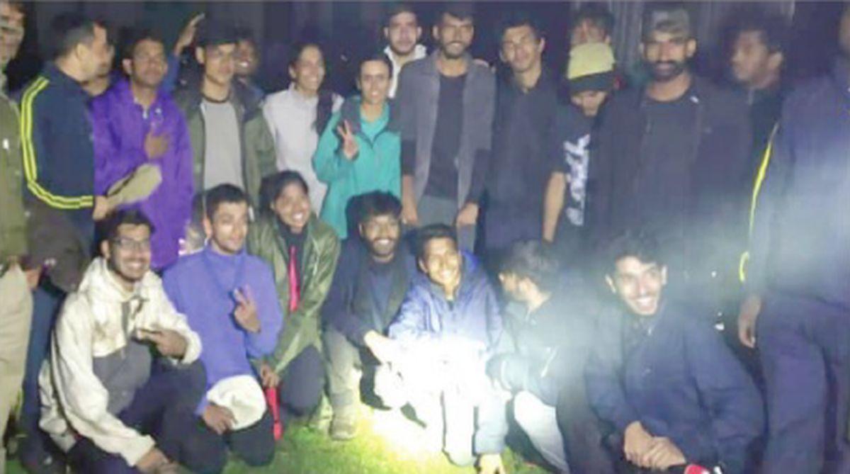 IIT Roorkee, trekking group, SDRF,Gangi village, Kedarnath