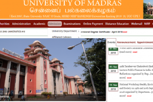 Madras University UG Results 2018: Re-totalling results declared, check egovernance.unom.ac.in