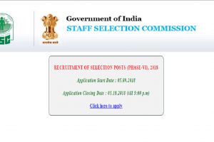 SSC recruitment 2018: Last date for application process of Selection posts extended, apply now at ssconline.nic.in