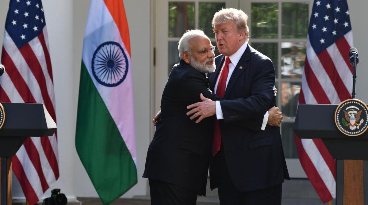 Narendra Modi and Donald Trump.