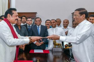 Sri Lanka in deep crisis as sacked PM insists to stay, Mahinda Rajapakse sworn in