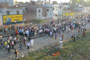 Locals continue protest at train accident site in Amritsar