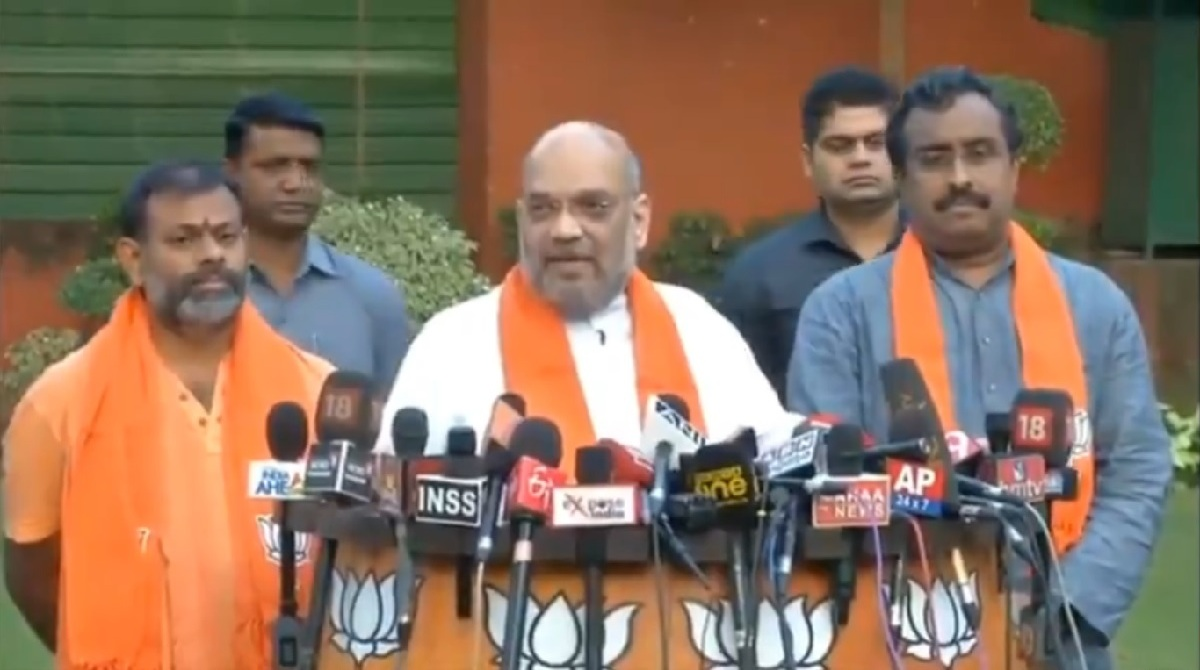 Amit Shah, BJP president, Swami Paripoornananda, Telangana elections