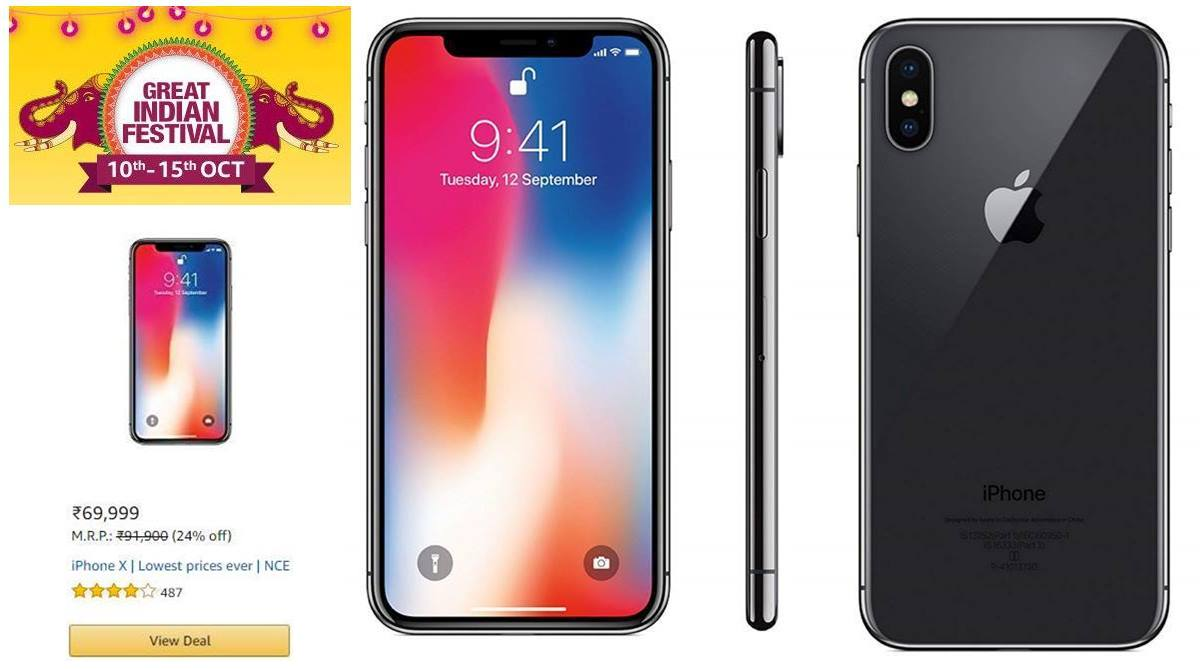 detailed look 90cf9 14ccd Amazon Great Indian Festival Sale: Apple iPhone X at lowest ever price