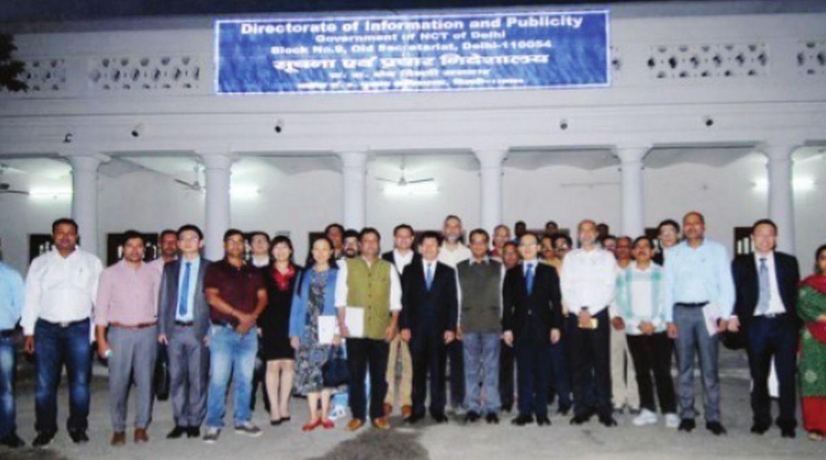 DU Feijin, Chinese delegation, Jayadev Sarangi, Beijing Government, Manish Sisodia