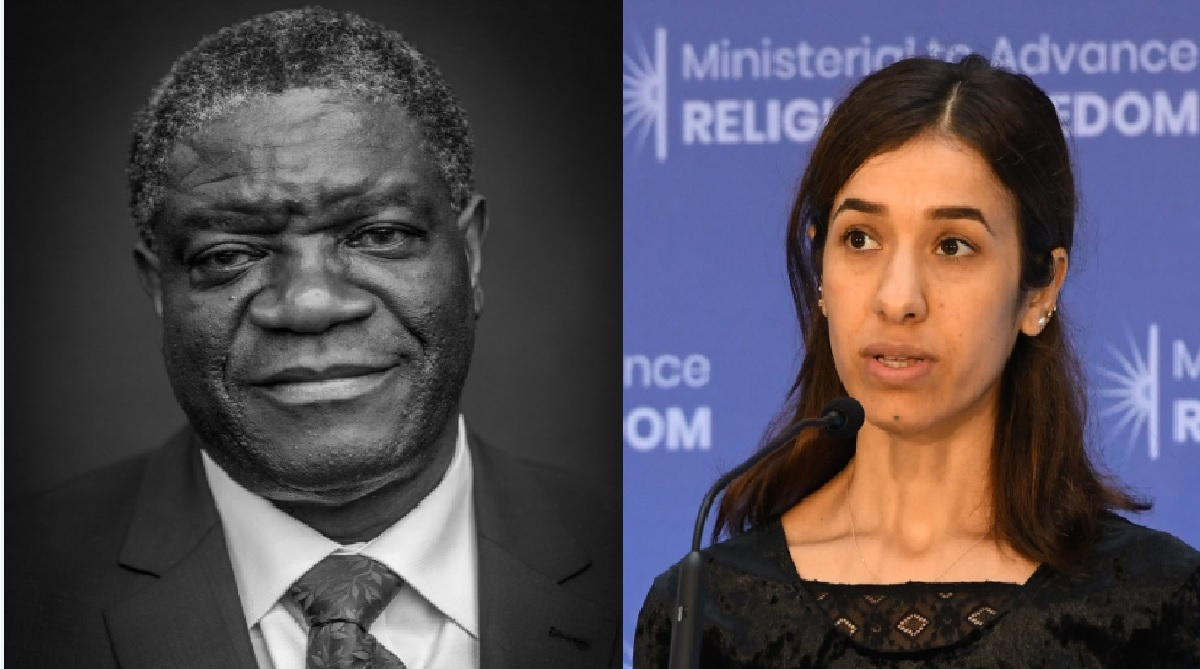 2018 Nobel Peace Prize winners Denis Mukwege and Nadia Murad