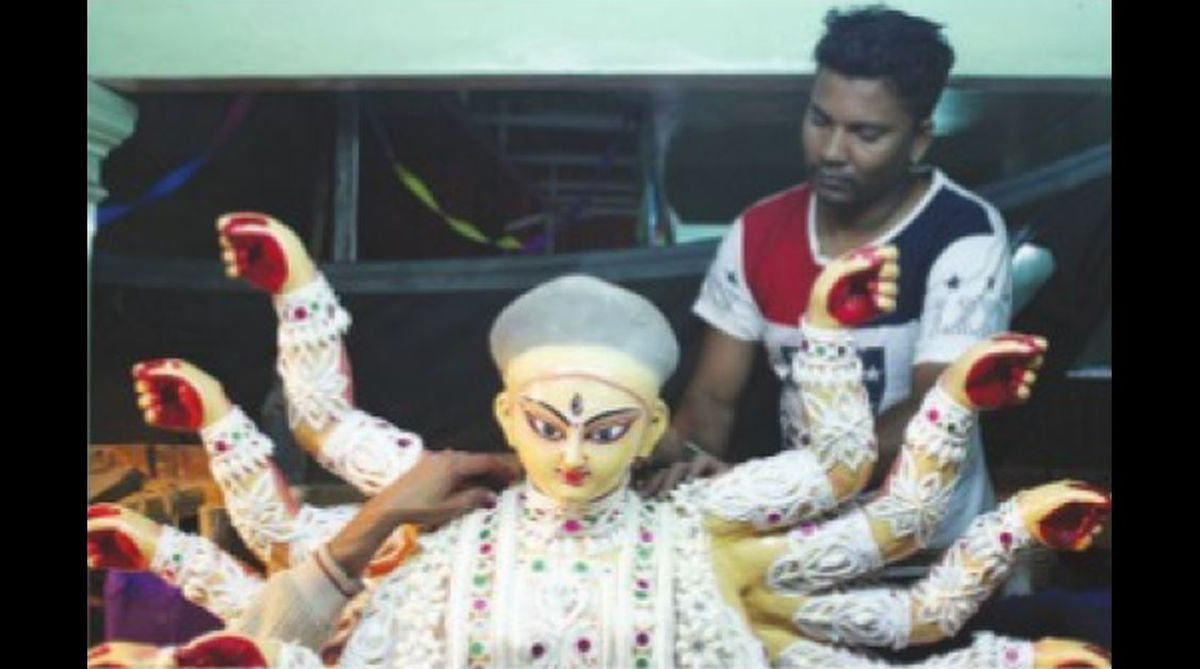 Durga Puja, Kali Bari temple, Kallol Kumar Pramanik, Goddess Durga