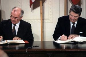 America to exit 1987 signed Intermediate-Range Nuclear Forces Treaty with Russia