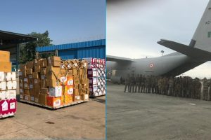 Indian Air Force aircraft land in Indonesia to help earthquake, tsunami victims