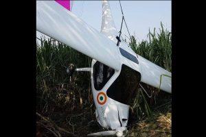 UP: IAF microlight aircraft crashes in Baghpat, pilots safe