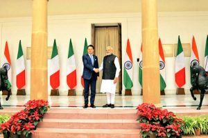 PM Modi welcomes Italian PM Giuseppe Conte at Hyderabad House