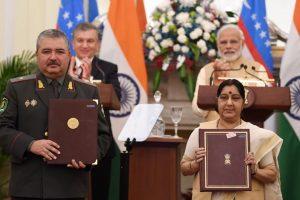 India-Uzbekistan sign 17 agreements including visa-free travel, military edu