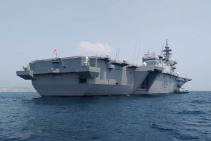 Japanese naval ships arrive at Visakhapatnam for JIMEX-18 with Indian Navy