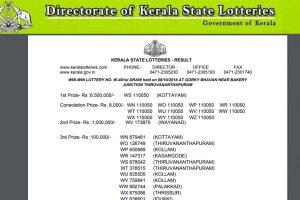 Kerala Win Win W 481 lottery result announced | Check Kerala Lotteries Results 2018 now at keralalotteries.com