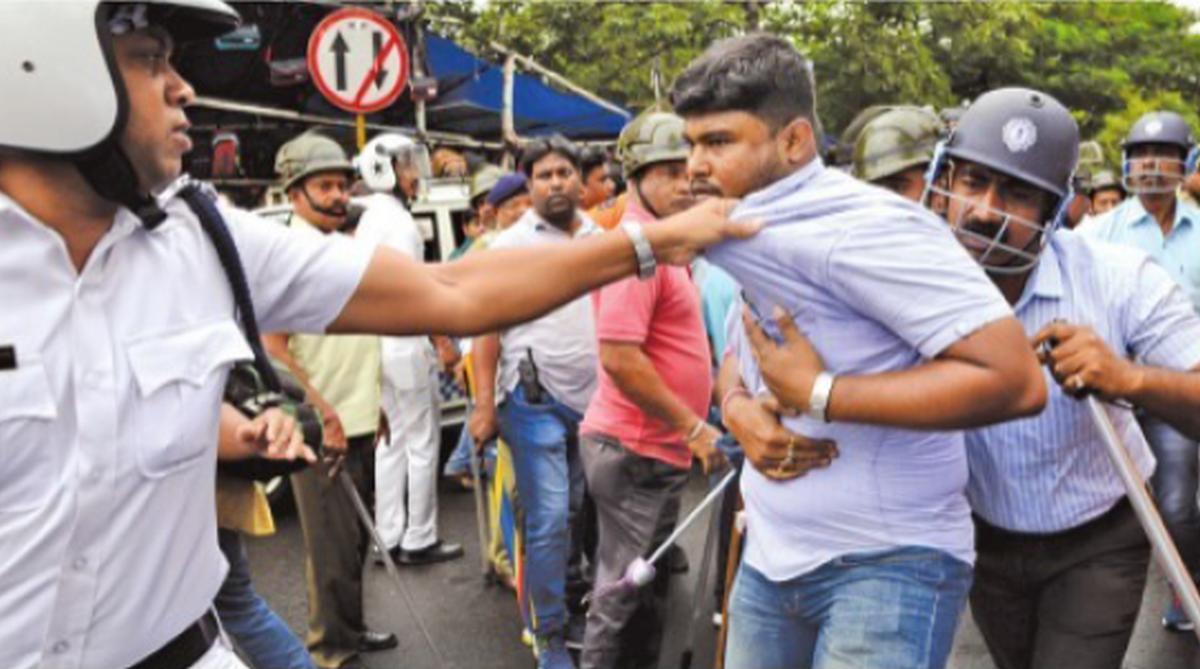 West Bengal, teachers protest in Kolkata, Sahid Minar, Dorina Crossing, UUPTWA, 2019 Lok Sabha election, Madhyamik examination, hunger strike
