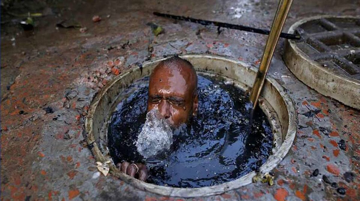 manual scavenging, time-bound eradication, Central government